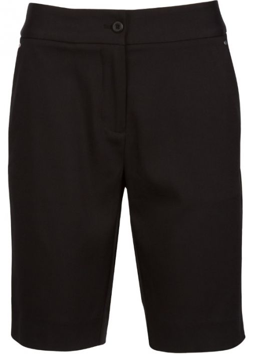 """Check out our Black ESSENTIALS Greg Norman Ladies 19"""" Easy Play Stretch Golf Shorts! Find stylish golf apparel at #lorisgolfshoppe Click through to own this shorts!"""