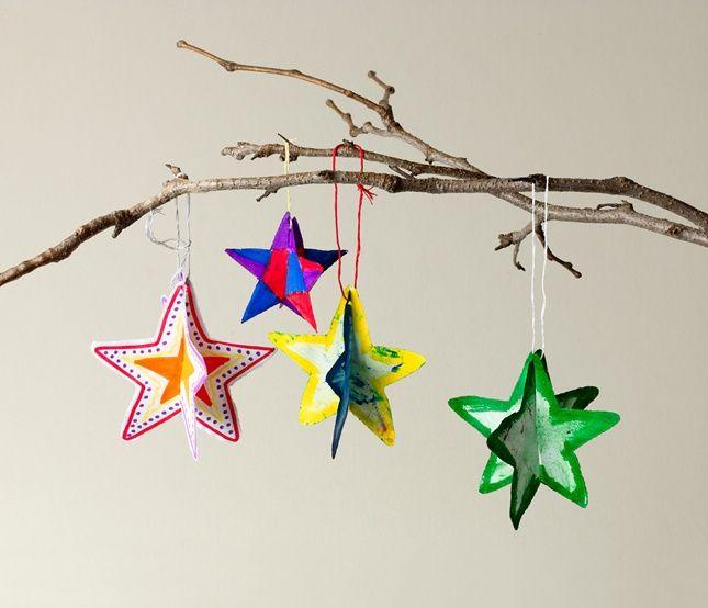 3-D Paper Shape Ornaments craft