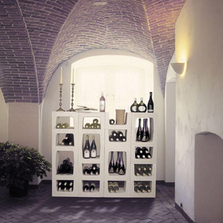 25+ best ideas about weinregal stein on pinterest   wegbeleuchtung ... - Weinregal Design Idee Wohnung Modern Bilder