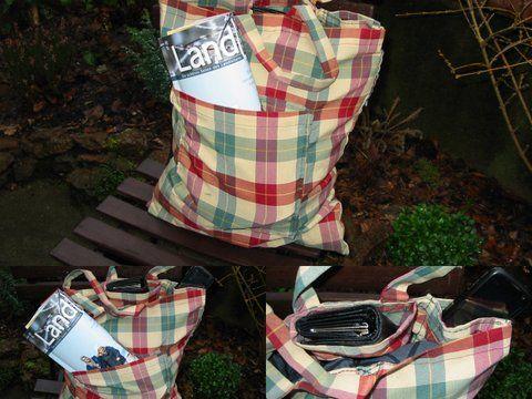 Einkaufstasche,genäht aus alten Kissenbezügen