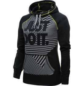 Nike Women's All Time Novelty Hoodie - Dick's Sporting Goods in Black/ Stealth/Yellow size small