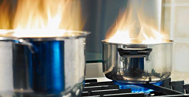 Kotona tulipalo syttyy usein lieden tai uunin ympäristöstä