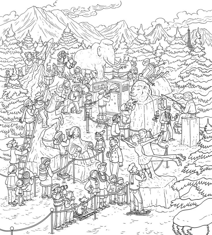 Hard Christmas Coloring Pages For Adults: Hard Coloring Pages : Coloring Page Id 1596626841