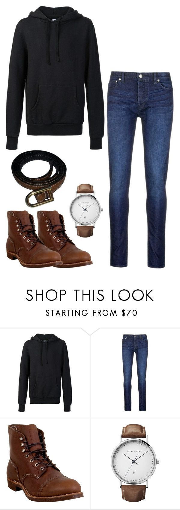 """Casual Outfit #35"" by riley-is-spiderman ❤ liked on Polyvore featuring 321, Topman, Red Wing, Georg Jensen, Delvaux, men's fashion and menswear"