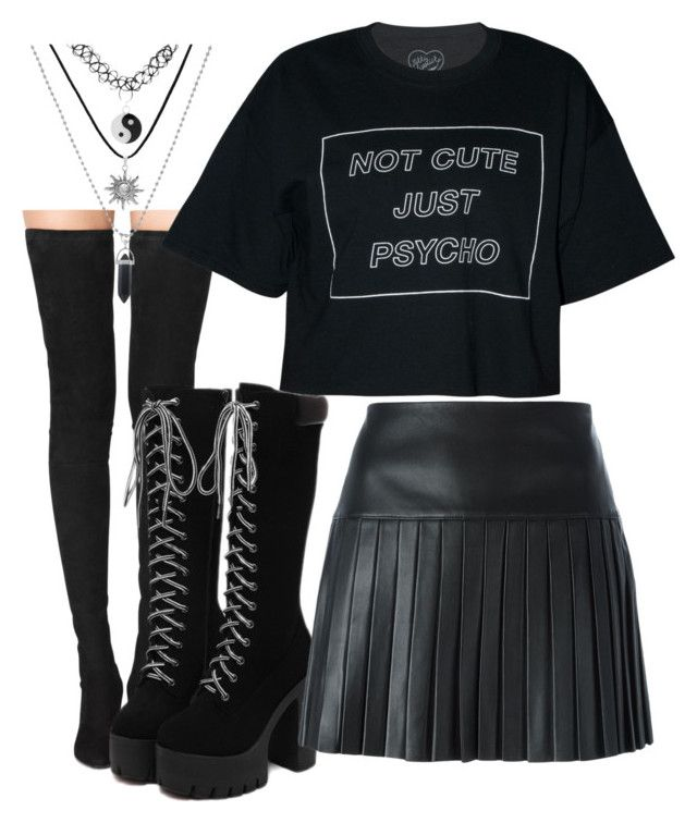 """Psycho ;3"" by angelofthefallen2 ❤ liked on Polyvore featuring Tamara Mellon and Polo Ralph Lauren"