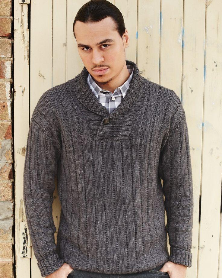 27 – Shawl Collared Sweater   Knitting Fever Yarns & Euro Yarns
