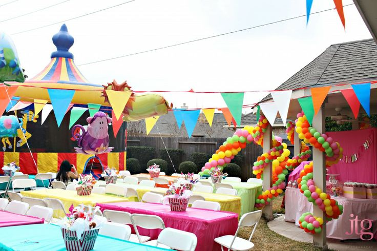 Another Great Outdoor Carnival Set Up Kids Party