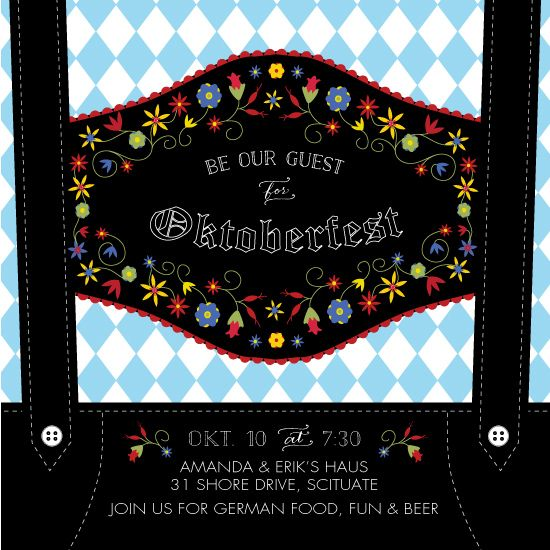 digital invitations - Lederhosen Oktoberfest by Jill Drinan