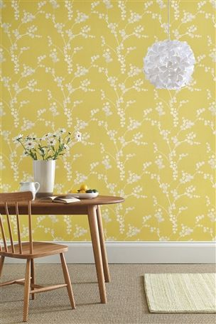 Buy Ochre Elissia Wallpaper from the Next UK online shop | Homely Ideas | Wallpaper, Mustard wallpaper, Diy wallpaper