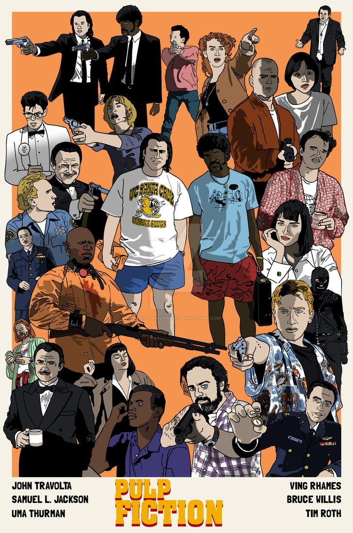 Pulp Fiction is easily one of my all time favourite films so its pretty self explanatory as to why I chose this pin and I like how it has pretty much all the characters that make this film so good and put them all into one picture.