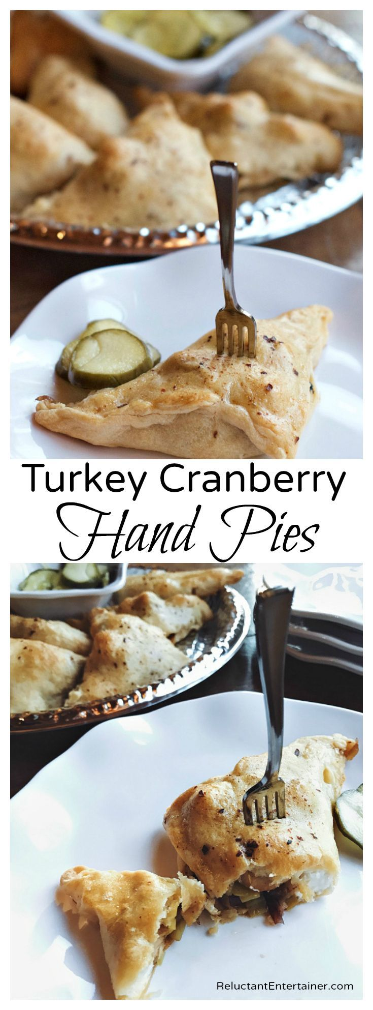 Turkey Cranberry Hand Pies with leftover turkey and cranberries