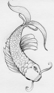 koi fish drawings-would be a cool tattoo