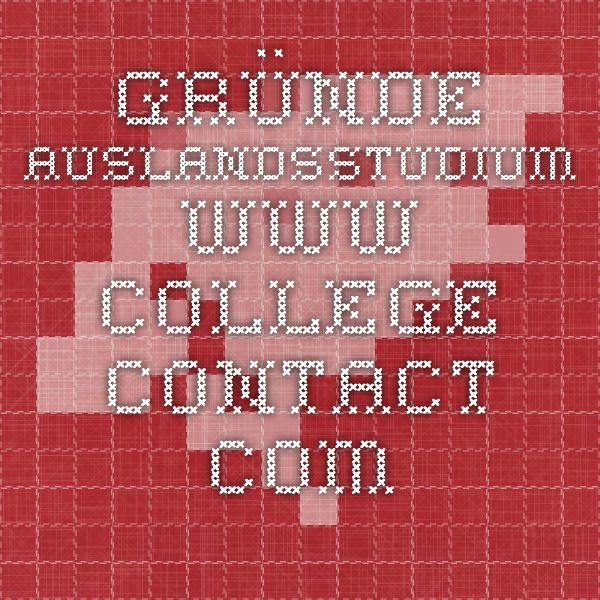 gründe auslandsstudium  - www.college-contact.com