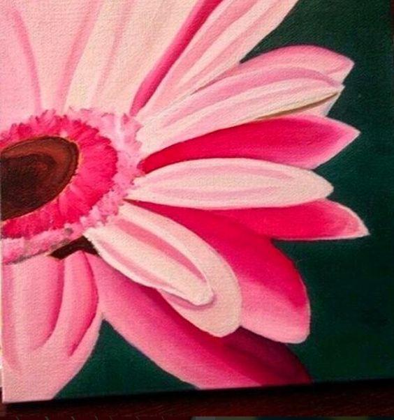 Oil painting on canvas.   bianco, Fiore, Natura, Rosa, Tela, verde.