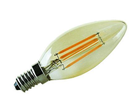 C35 dimbare kaars Led filament lamp kleine fitting C35-4W E14 amberkleur glas