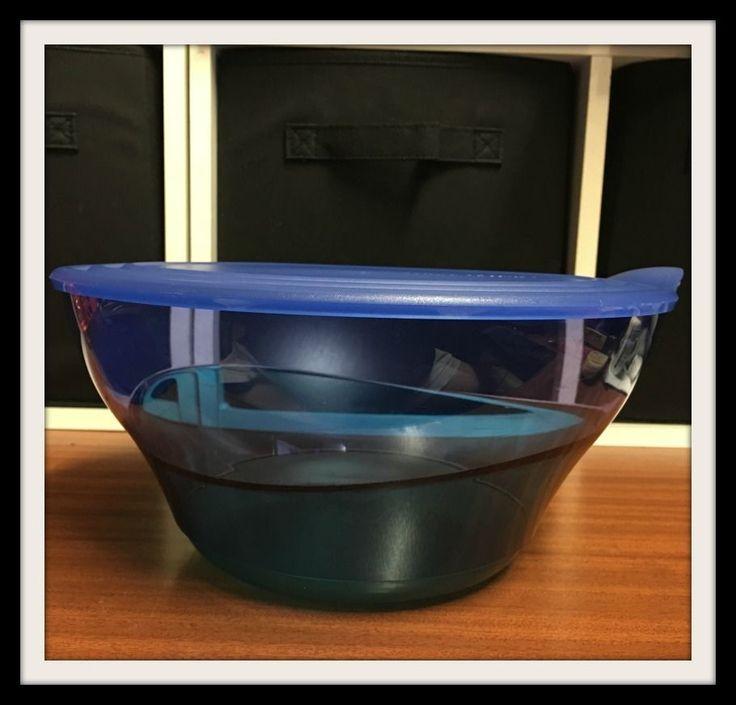 Tupperware ●● Eleganzia ●● Stunning Sea Blue/Green Deep Serving Bowl 4.6L W Seal