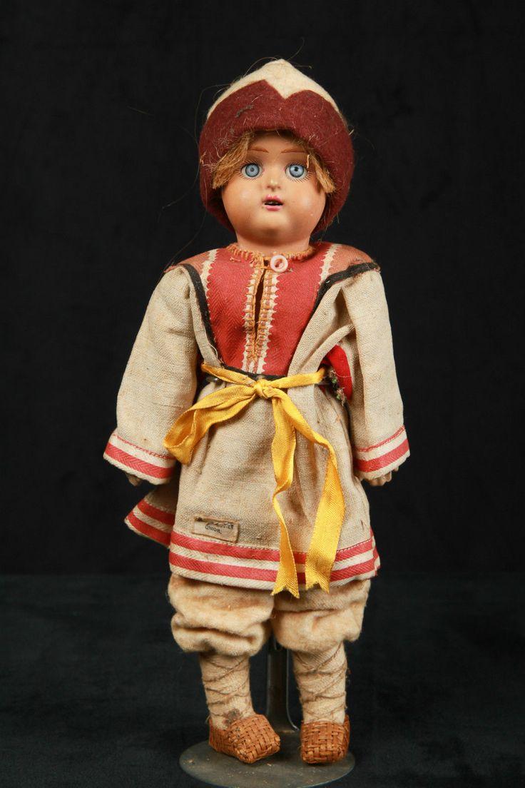 Antique Russian Terracotta Head Boy