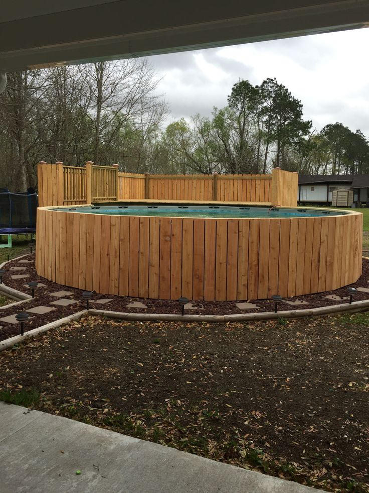 Fencing Walmart Pool With Half Deck Pool Ideas