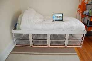 storage bed I saw on craigslist - custom made bed with storage