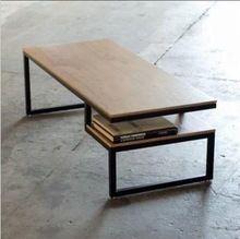 País da américa para fazer o velho retro minimalista de luxo sofá lado alguns mesa de madeira mesa de ferro forjado café(China (Mainland))