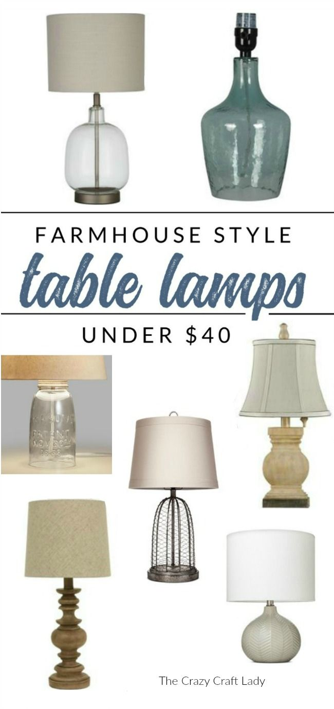 Shop These Farmhouse Lamps They Re All Under 40 Find Farmhouse Style Table Lamps On A Bu Farmhouse Table Lamps Table Lamps Living Room Farmhouse Style Table