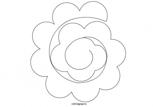17 best images about flower rolled on pinterest cutting for Rolled paper roses template
