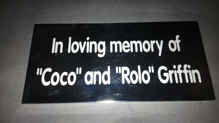 www.facebook.com/kdglassfrosting  Sandblasted stainless steel memorial plaque