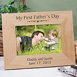 Personalized My First Father's Day Frame - Mother's/Father's Day - Holidays & Occasions - Lighterside