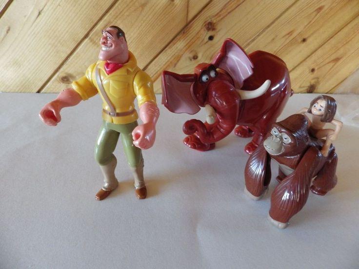 Lot of 3 McDonald's Toys..  Disney TARZAN  Tantor, Tarzan & Kala & Clayton    eBay
