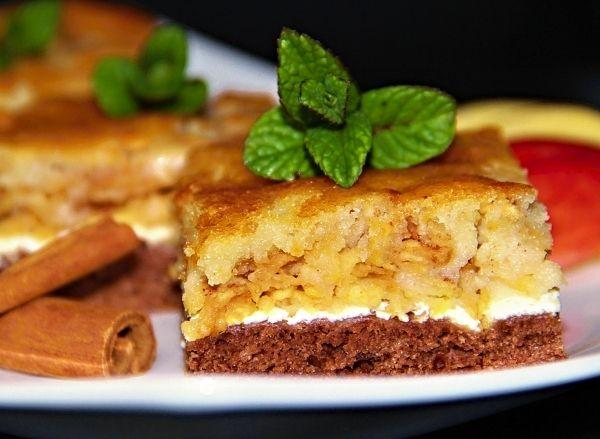 Recept na Skládaný jablkový koláč