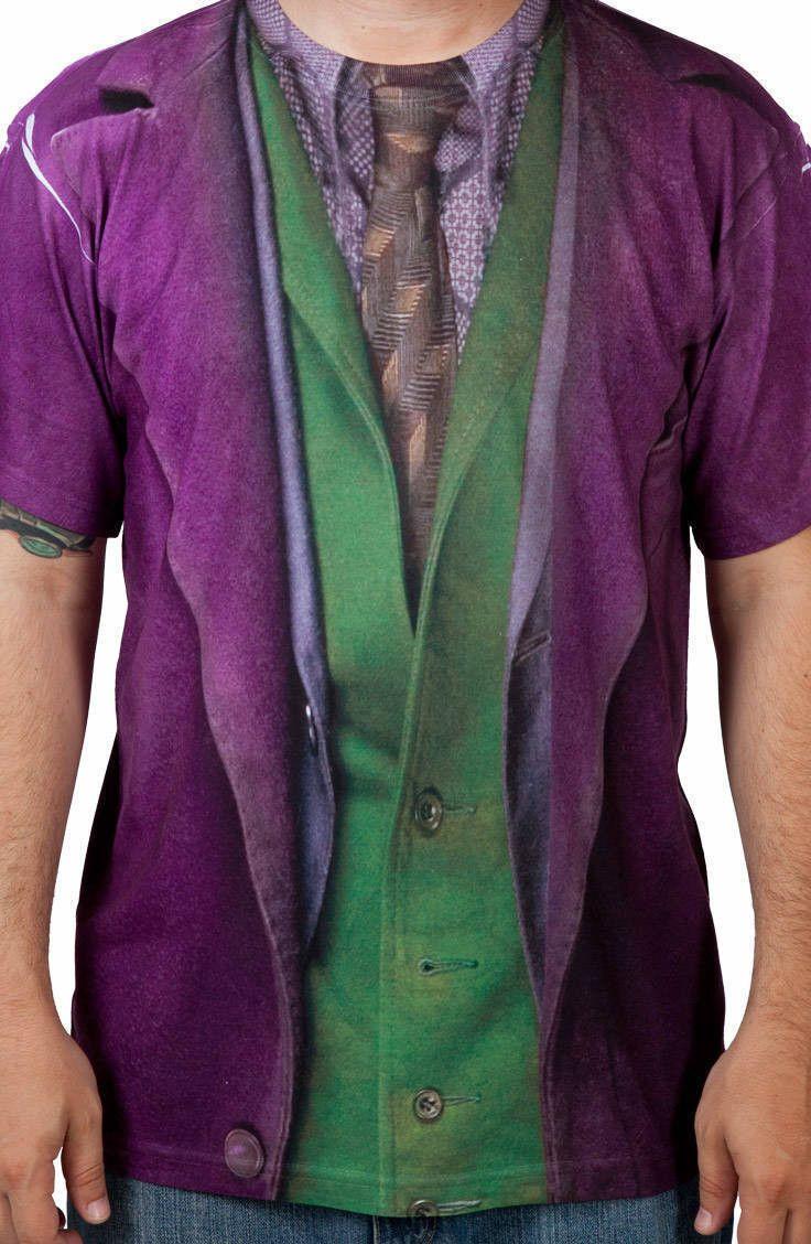 Dark Knight Joker Costume Shirt: DC Comics, Batman Mens T-shirt