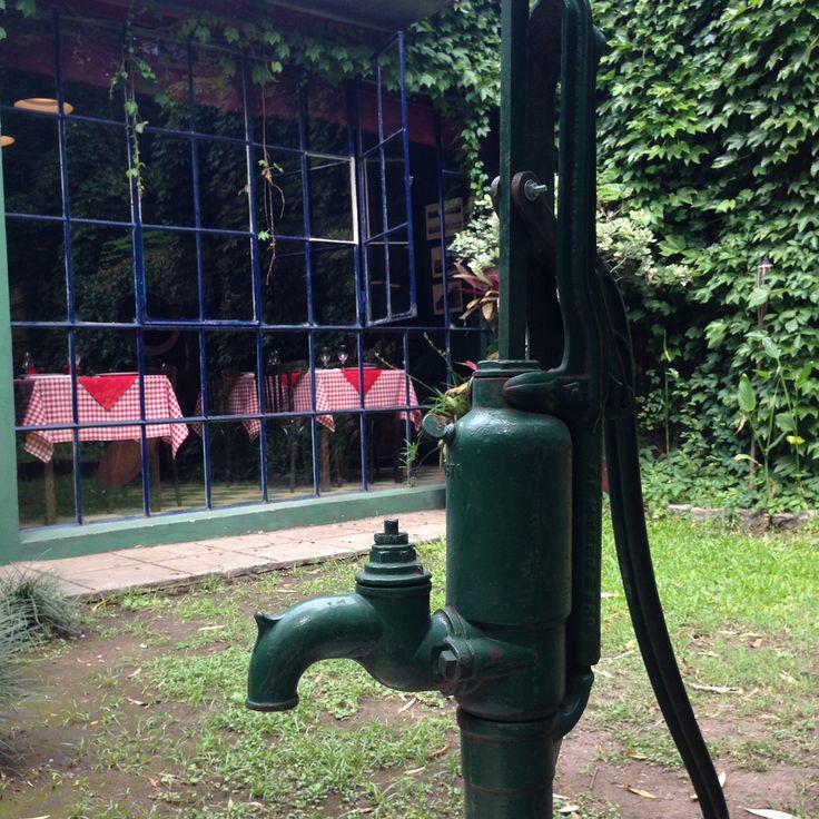 Vieja bomba de agua
