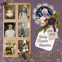 Grandma..just love the ages & stages of life on this layout!
