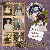 Grandma...'through the years' page.