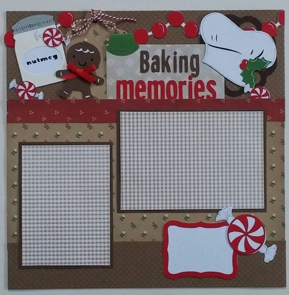 This is a one page 12x12 premade scrapbook layout page. There are two mats for photos on this page. One mat will fit a 3.5x5 photo, and one will