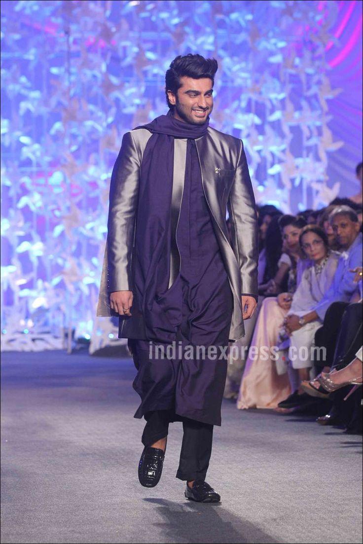 Arjun Kapoor at Manish Malhotra's #LFW2016 show. #Bollywood #Fashion #Style #Handsome #Desi #Ethnic