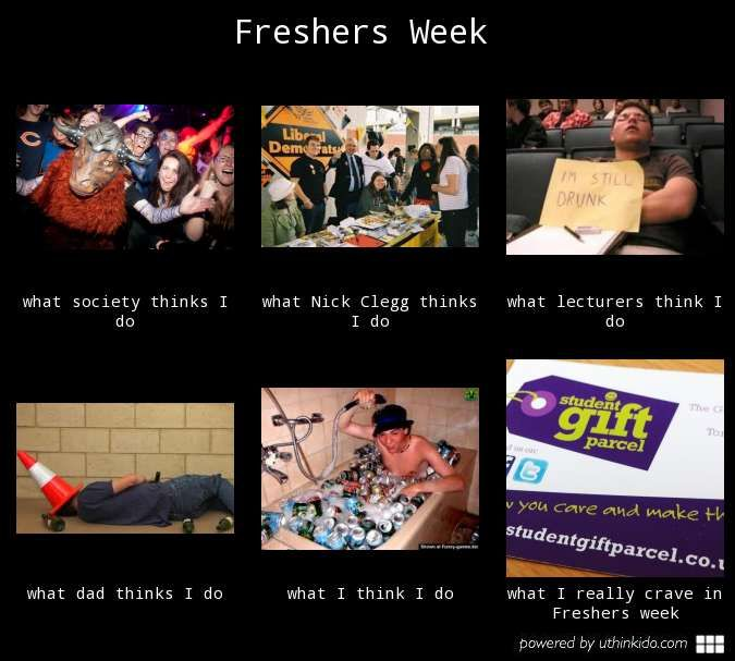 Freshers week in a nutshell