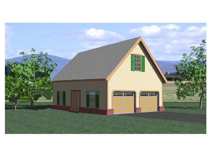 Garage loft plan 006g 0054 garage ideas pinterest for Two car garage with loft