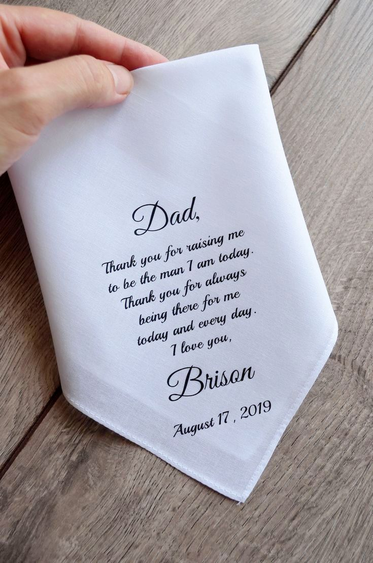 Father Of The Groom Handkerchief To Father Of The Groom Gift Etsy In 2020 Groom Handkerchief Personalized Wedding Gifts Groom Gift