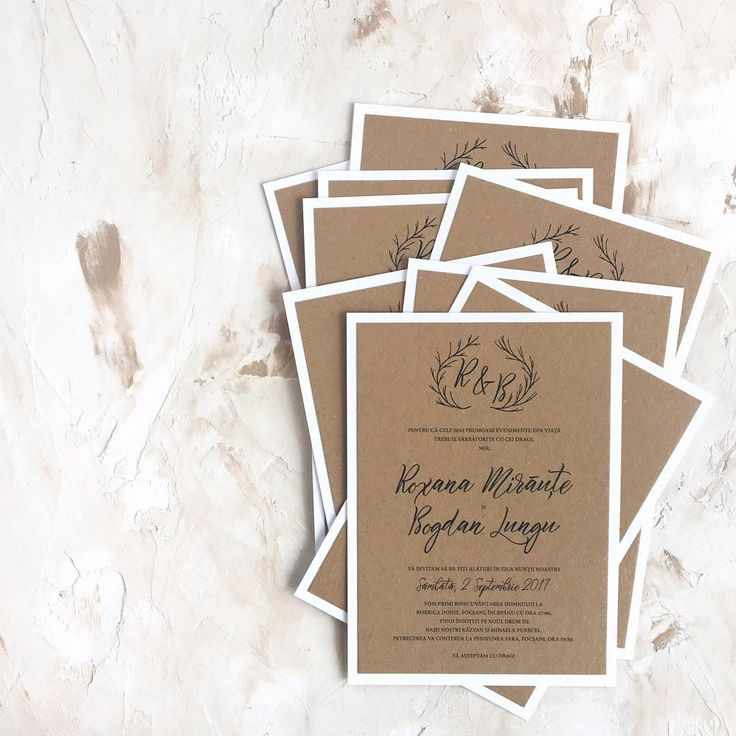 © PAPIRA invitatii de nunta personalizate // Ending the week with this custom kraft order. Loved working with such a creative couple. // #papiradesign #papirainvitations #invitatiidenunta #invitatiinunta #weddinginvitations