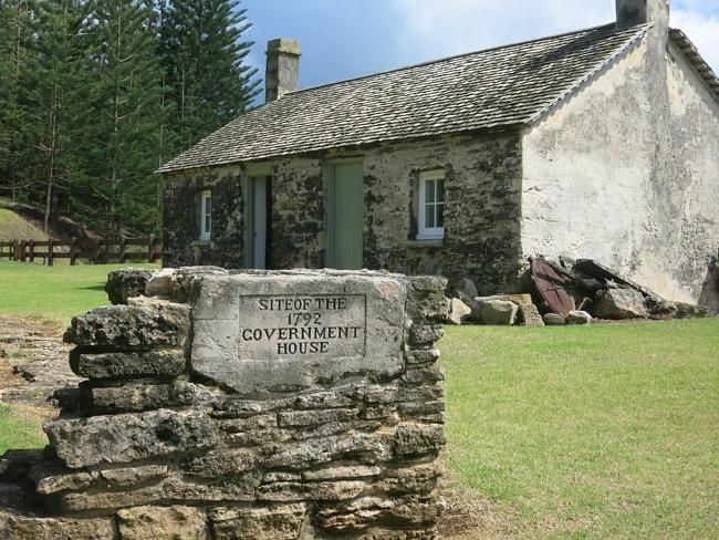 The old Government House on Norfolk Island.