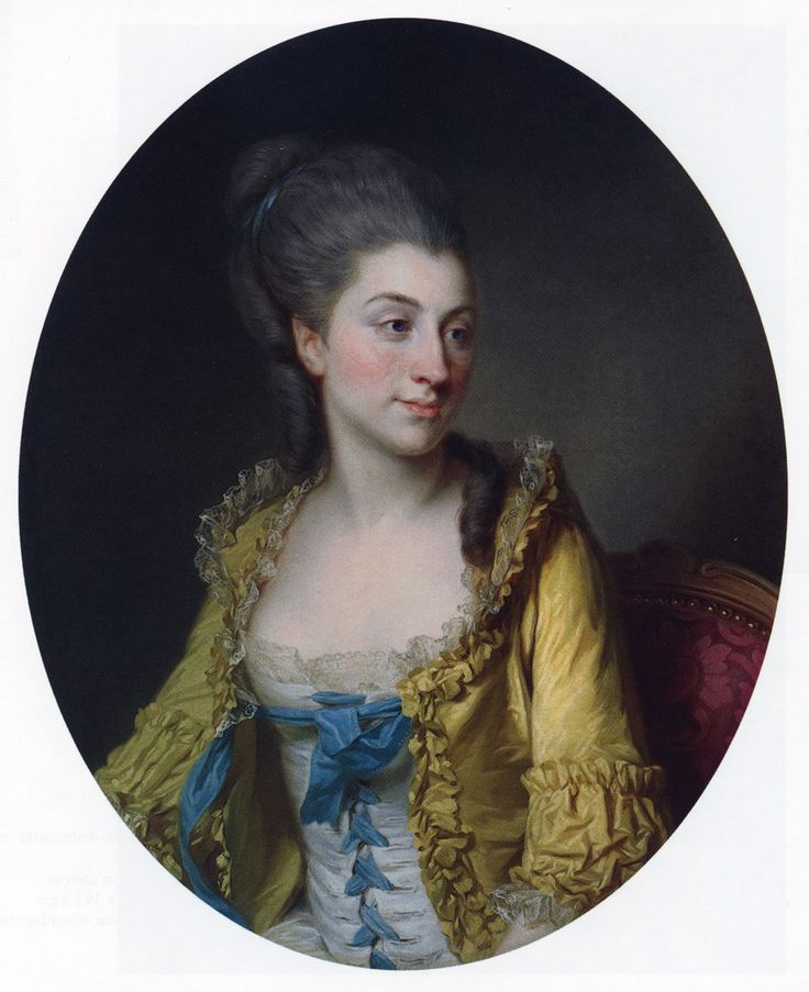 PRESUMED PORTRAIT OF THE DUCHESSE DE CHARTRES, ca. 1778 Oil on canvas, oval: 27 x 21 inches