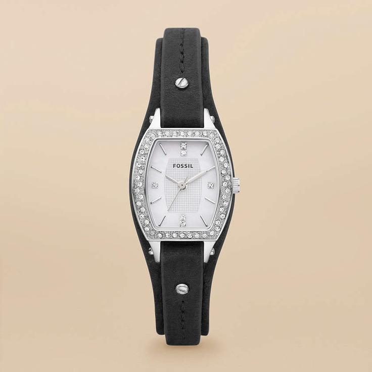 Fossil Marjorie Leather Watch - Black (I want it..)