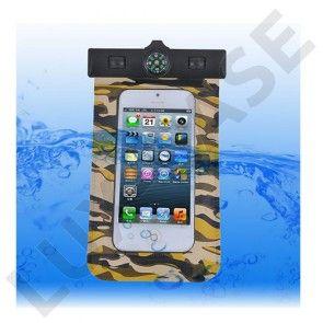 Vandtæt Smartphone Kompas Armbånd (Brun camouflage)