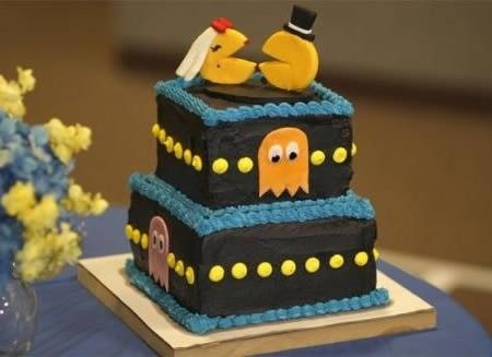 Torta Pacman - http://invitaveritas.altervista.org/torte-strane-e-folli-la-torta-pacman/