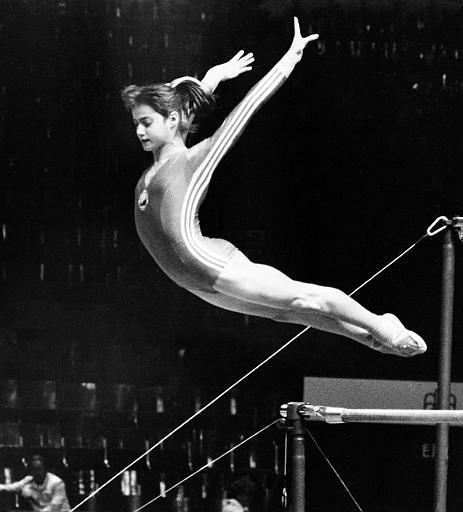 Uneven Bars Nadia Comaneci Romanian gymnast Nadia...