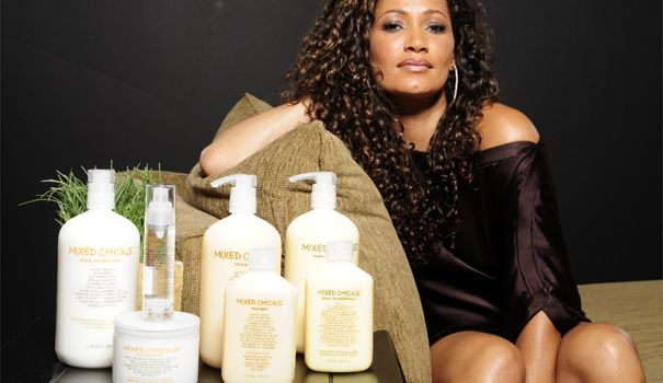 Mixed Chicks hair products - you have to use the trio together, and you have to apply the conditioner properly, but the results are GREAT. No need for other texturizers, gels, etc.