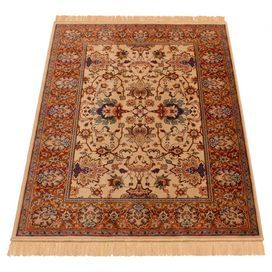 Add warmth to your study or lounge with this exotic rug.