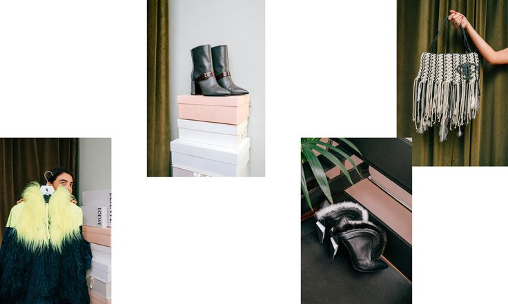 """From the left: """"Nike x Sacais latest collection that I really love. Pollini-boots – a gift! My precious Fendi-boots with fur. My favourite bag from Emilio Pucci – the designer Massimo Giorgettis' first collection, it was amazing."""""""