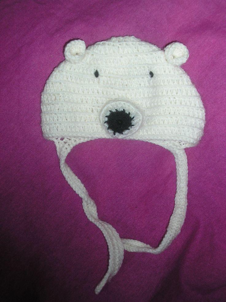 Шапка белый медведь: Шапка